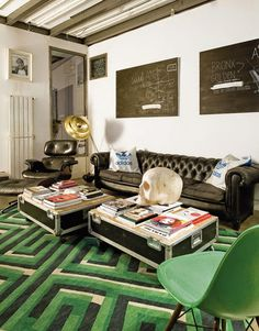Personal interior: Eclectic DJ's home in Madrid.