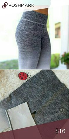 New gray ombre capri workout yoga leggings Awesome gray ombre capri workout leggings in a size L-XL, with four way stretch, wicking, and flat seems for extra comfort.  Perfect for the gym, yoga, running , weight lifting or every day wear! sizes available S-M and L-XL. Pants Leggings