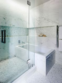 love the idea of the tub and the glass-enclosed shower