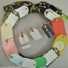 DIY Paper Tag Wreath #wreaths #craft