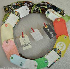 DIY Paper Tag Wreath #wreaths #craft