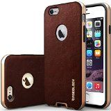 iPhone 6 Case, Caseology [Bumper Frame] Apple iPhone 6 (4.7″ inch) Case [Leather Cherry Oak]