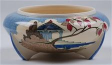 A Blue Japan pattern bowl by Clarice Cliff