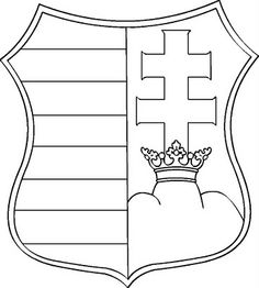 kossuth-címer Outline Pictures, Coloring Books, Coloring Pages, School Information, Spring Design, Wood Carving, Stencils, Diy And Crafts, Mandala