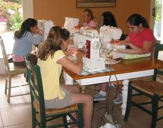 Sewing Camp - The Lost Apron - a great resource - series of posts on summer sewing camp