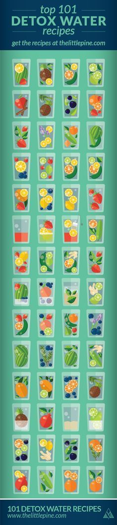 101 Detox Water Recipes   The Little Pine