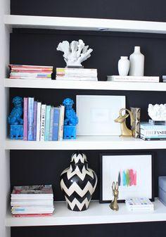 Jen Ramos loves her zig zag ginger jar in her home office. We think it looks smashing. Via MadeByGirl, @Jen Ramos (MadeByGirl)