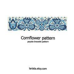 Hoi! Ik heb een geweldige listing gevonden op Etsy https://www.etsy.com/nl/listing/162135478/cornflower-peyote-bracelet-pattern