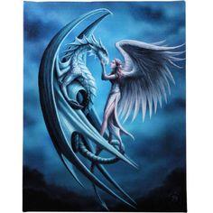 Silver Back Anne Stokes Wall Plaque Gothic Dragon Angel Fantasy Art Canvas - Kristi Walker Home Anne Stokes, Wall Canvas, Canvas Art, Fantasy Art Angels, Fantasy Gifts, Angels Beauty, Wolf, Sad Art, Fantasy Kunst