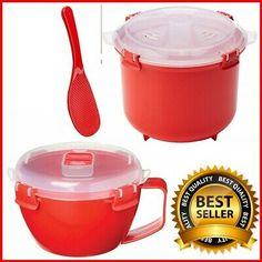 Noodle Cooker Capacity: 940 ml. - Rice Cooker Capacity: L. - Dishwasher (top rack), microwave, fridge and freezer safe. Microwave Rice Cooker, Rice Cooker Steamer, Noodle Bowls, Food Containers, Easy Cooking, Noodles, Thursday, Meal Prep, Prepping