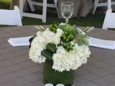 Centerpieces at the 2014 @Four Seasons Resort and Club Dallas at Las Colinas Golf School on the Event Lawn     BRB Events
