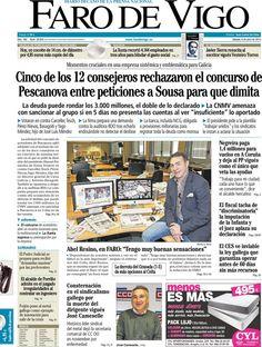 Los Titulares y Portadas de Noticias Destacadas Españolas del 6 de Abril de 2013 del Diario El Faro de Vigo ¿Que le parecio esta Portada de este Diario Español?