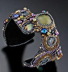 Beaded cuff by Sherry Serafini