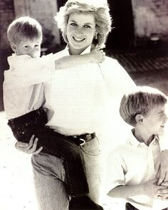 Prince Harry, Princess Diana and Prince William