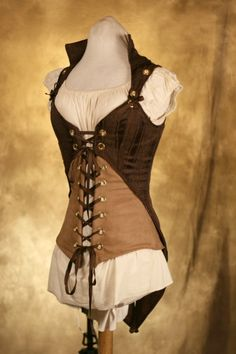 The jacket corset combo is great