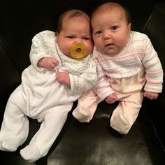 Cozy in Kissy Kissy Treasures footie! #twins