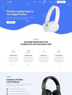 Previous Next View on Template Monster Open Back Headphones, Business Website Templates, Noise Cancelling, Business Design, Web Design, Digital, Layouts, Design Web, Website Designs