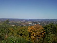 View From the top of Peters Mountain in Dauphin County PA