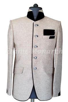 Light Beige High Neck Collar Coat