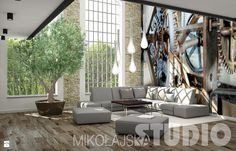 Salon - loft - Salon - Styl Industrialny - MIKOŁAJSKAstudio