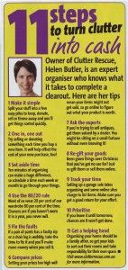 "Have you ever wondered if you can make money from your clutter?  Clutter Rescue was quoted in ""that's lIfe Magazine"" recently with 11 steps to turn clutter into cash. #clutter #declutter"