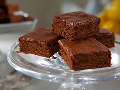 Brownies. The ultimate indulgence. But these babies are only 95 calories per brownie, so eat up!