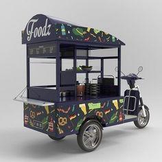 Food Cart Design, Food Truck Design, Coffee Carts, Coffee Truck, Food Trucks, Korean Street Food, Korean Food, Mobile Coffee Shop, Mobile Food Cart