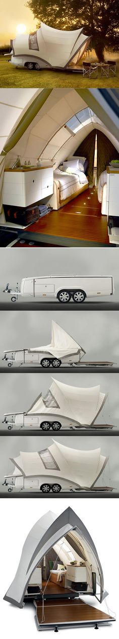 """The Opera"" pop up camper. So very cool! I hate camping, and even I would camp with this!"