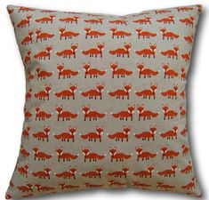 Cushion Covers made with Chatham Glyn Linen Look Orange Scandi Foxes Pillows Cushion Covers Uk, Pillow Covers, Shabby Chic Cushions, Fox Pillow, Orange Cushions, Animal Cushions, Cottage Crafts, Crushed Velvet, Soft Furnishings