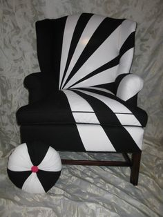 Award of Excellence for residential upholstery: Black & White Chair