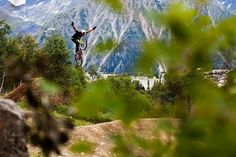 Les Deux Alpes in France is the setting for Crankworx Les 2 Alpes 9 day mountain bike France event, one of the best in Europe. Beautiful Landscapes, Mountain Biking, Adventure Time, Cycling, Europe, Bike, France, Mountains, Mtb