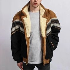 Product number brand name Carbonhot gender male Color Multicolor season autumn,winter Material Polyester Pattern. Latest Fashion Clothes, Fashion Outfits, Mens Fashion, Style Fashion, Fashion Coat, Fashion Ideas, Collar Designs, New Years Sales, Corduroy Jacket