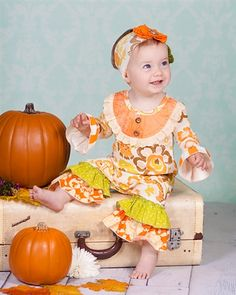 Giggle Moon clothing Thankful Hearts Longall Fall 2014 Preorder