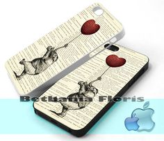 Elephant-Flying-Ballon - Print on hardplastic for iPhone 4/4s and 5 case, Samsung Galaxy S3/S4 case.