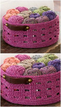You will love these DIY Crochet Storage Basket Free Pattern Ideas and there really is something for everyone. Check them all out now. Crochet Shell Stitch, Crochet Rope, Crochet Stitches, Free Crochet, Crotchet, Crochet Basket Pattern, Knit Basket, Crochet Patterns, Crochet Baskets