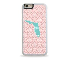 FLORIDA STATE LOVE Monogram Personalized iPhone Case, Monogram Personalized Galaxy Case