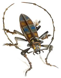 Spare Parts Sculptures by Edouard Martinet (mechanical bugs and birds) #AnimalArt