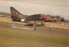 RNZAF A4K Skyhawk aircraft - landing