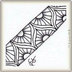 Zentangle-Pattern 'Copada' by Margaret Bremner CZT, presented by www. Doodle Art Designs, Doodle Patterns, Zentangle Patterns, Zentangles, Simple Complex, Tangle Art, Jewellery Sketches, Pen Art, Easy Drawings