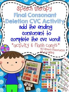 Add the ending consonant to complete the CVC word. Articulation Therapy, Articulation Activities, Speech Therapy Activities, Phonics, Group Activities, Reading Activities, Speech Language Pathology, Speech And Language, Final Consonant Deletion
