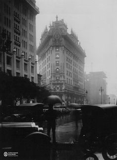 Rainy day in Buenos Aires, Old Photos, Big Ben, Old School, Nostalgia, Louvre, Day, Building, Travel, Life