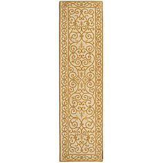 @Overstock - Hand-hooked Iron Gate Ivory/ Gold Wool Runner (2'6 x 12') - Hand-hooked runner features an ivory backgroundFringeless borders on rug give a very clean and elegant look to your home decorTransitional runner provides comfort and softness from a pure virgin 100-percent wool pile  http://www.overstock.com/Home-Garden/Hand-hooked-Iron-Gate-Ivory-Gold-Wool-Runner-26-x-12/4039455/product.html?CID=214117 $116.44