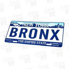Bronx New York Kennzeichen Blechschild #Bronx #Empire-State #Kennzeichen