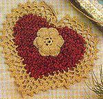 Chenille Heart Motif: free pattern