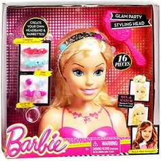 Barbie Glam Party Styling Head Blonde, 16 Pieces ** Want additional info? Click on the image.