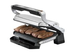 Amazon.com: T-fal GC722D53 1800W OptiGrill XL Stainless Steel Large Indoor Electric Grill with Removable and Dishwasher Safe Plates, Silver: Kitchen & Dining