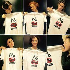 Las actrices de Seis Hermanas también se han unido al movimiento de #StopBulling,de @fundacionmutua y @fundacionanar .