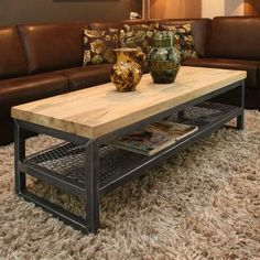 Industrial Furniture - Rustic Home furniture Welded Furniture, Iron Furniture, Steel Furniture, Custom Furniture, Furniture Design, Loft Furniture, Furniture Outlet, Furniture Ideas, Industrial Table