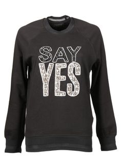 MARKUS LUPFER Markus Lupfer Say Yes Embellished Sweatshirt. #markuslupfer #cloth #fleeces-tracksuits