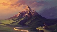 The Lonely Mountain by HelenKei on deviantART